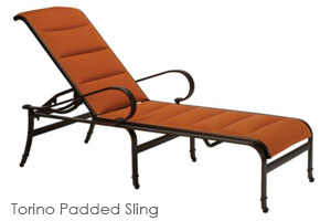 Torino Padded Chaise Lounge